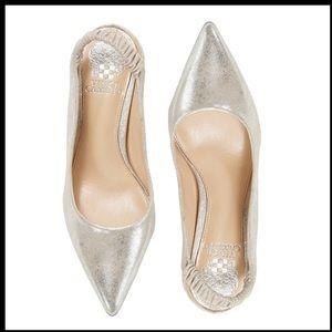 Vince Camuto Restia Silver Slingback Leather Shoe